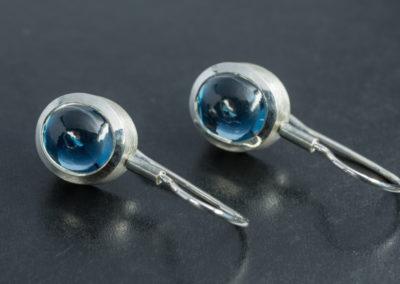 Ohrhänger: Silber mit Topas
