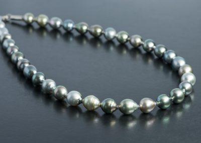 Perlenkette: Thaiti Perlen, Weissgold