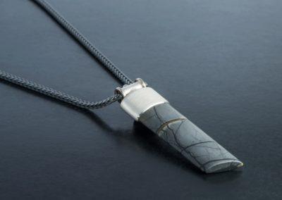 Anhänger: Silber mit Jaspis