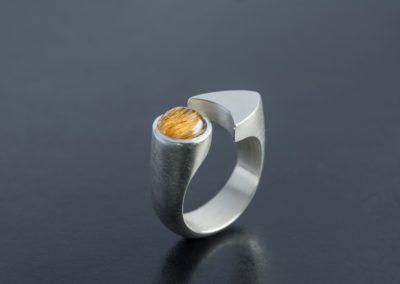 Ring: Silber mit Rutil Quarz