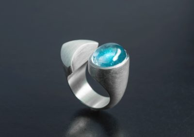 Ring: Silber mit Topas cabochon